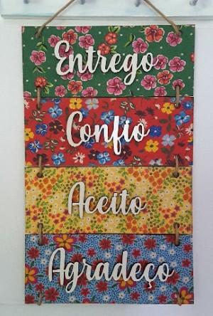 Placa Decorativa 40x24cm